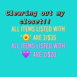 🌼2/$35 and 💜2/$20